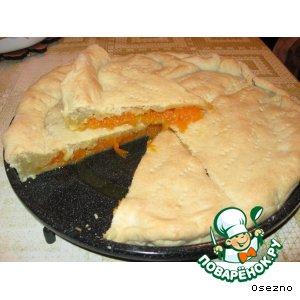 Рецепт: Пирог с изумительной тыквенной начинкой