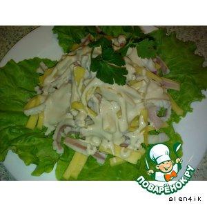 Рецепт: Салат из кальмаров «По-дальневосточному»