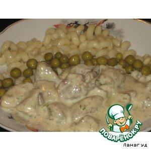 Рецепт: Свинина в сырном соусе