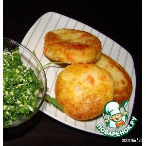 Рецепт: Картофельные котлеты с крабовыми палочками