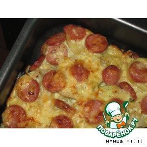 Рецепт: Картофельная запеканка с сосисками