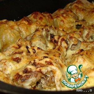 Рецепт: Отбивная говядина с картофелем в духовке