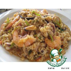 Рецепт: Ризотто с морепродуктами
