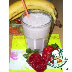 Рецепт Клубнично-банановый коктейль