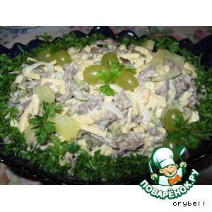 Рецепт: Сырный салат с сердцем