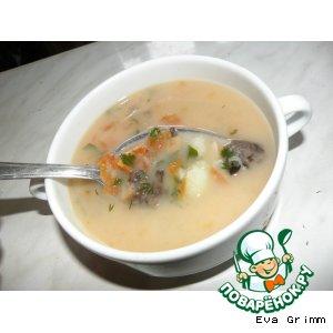 Рецепт: Грибной сливочный суп