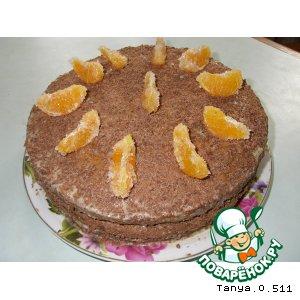 Рецепт: Торт Наслаждение с ананасами