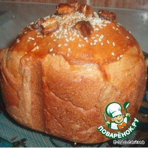 Рецепт: Хлеб с зеленым чаем и финиками