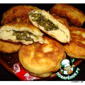 Рецепт: Пирожки бездрожжевые со щавелем