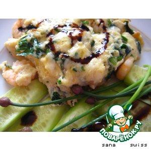 Рецепт: Омлет с креветками Для гурманов