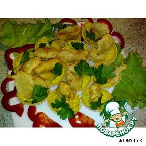 Рецепт: Тигровые креветки в пивном кляре
