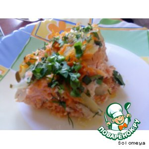 Рецепт: Запеканка рыбная с соленым огурцом