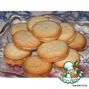 Рецепт: Печенье  миндально-кокосовое  с кремовой начинкой