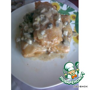 Рецепт: Голубцы под грибным соусом