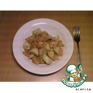 Рецепт: Тушeные овощи с репой