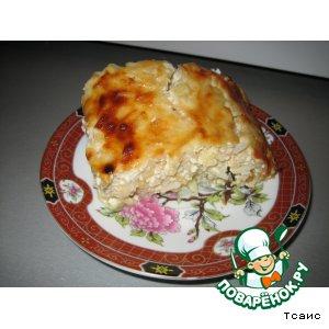 Рецепт: Запеканка творожно-рисовая с яблоком