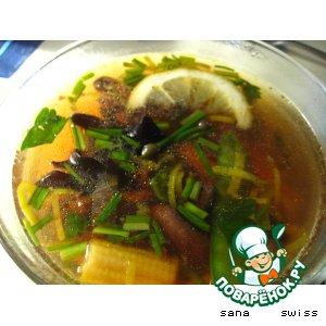 Рецепт: Бульон   китайский   с   грибами