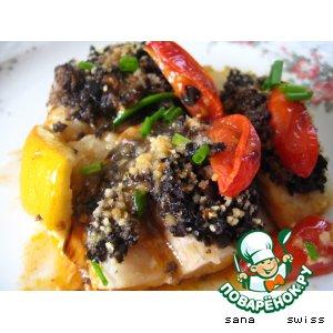Рецепт: Рыба,   запеченая   с   тапенадом