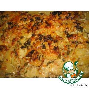 Рецепт: Картофельная запеканка с французской горчицей