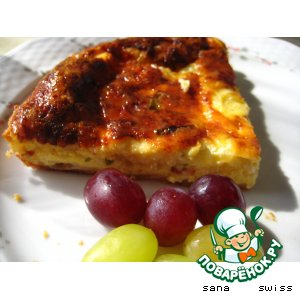 Рецепт: Сырный   пирог   с   луком