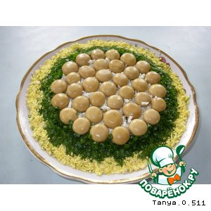 Рецепт: Салат Грибная поляна