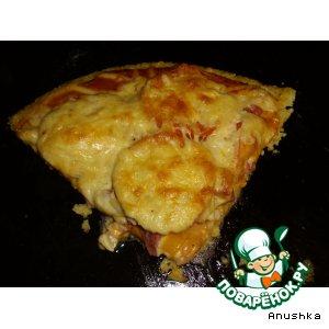 """Рецепт: Пицца на """"полентовой"""" основе"""