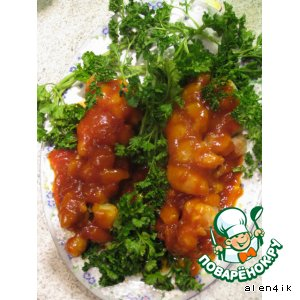 Рецепт: Рыбка-виноград в кисло-сладком соусе