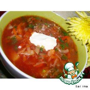 Рецепт: Борщ вегетарианский