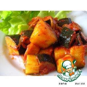 Рецепт: Закуска   из   кабачков   с   соевыми   ростками