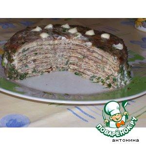 """Рецепт: Тортик """"блинный"""""""