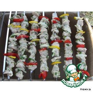 Рецепт: Шашлык из курицы