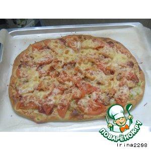 Рецепт: Хрустящая пицца