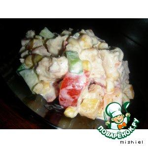 Рецепт: Салат с курицей Друг Цезаря