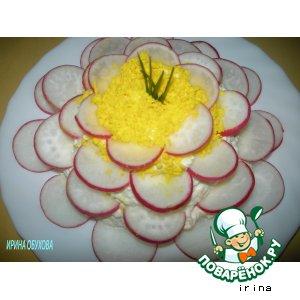 Рецепт: Салат с сыром Кувшинка