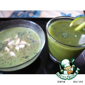 Рецепт: Суп-пюре и холодный суп 2 в 1