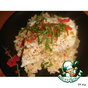 Рецепт: Судак на пару с бурым рисом