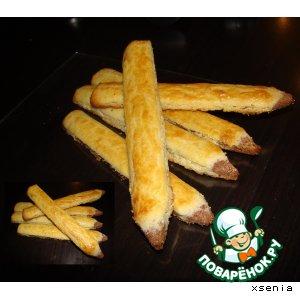 """Рецепт: Песочное печенье """"Карандаши """""""