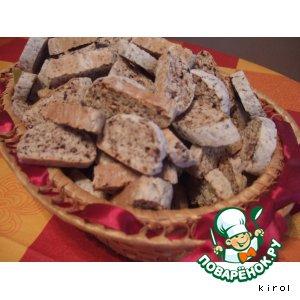 Рецепт: Бискотти ореховый