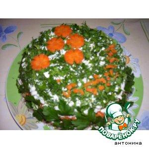 Рецепт: Салат Нежная мимоза