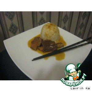 Рецепт: Телячьи ребрышки с рисом по-шанхайски