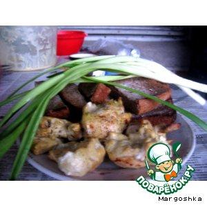Рецепт: Куриный шашлык на кефире