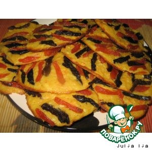 Рецепт: Творожно-морковное печенье Тигрeнок