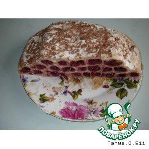 торт соты с вишней рецепт из блинов