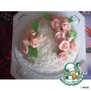 """Рецепт: Торт из печенья """"Розочка"""""""