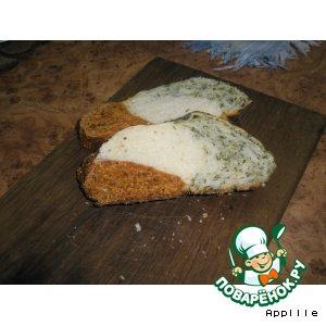 Рецепт: Хлеб с зеленью и красным перцем