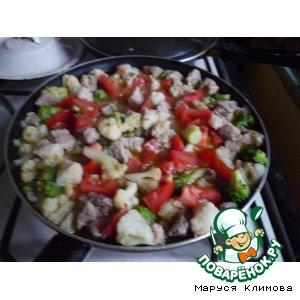 """Рецепт: Свининка с овощами """"Сытная"""""""