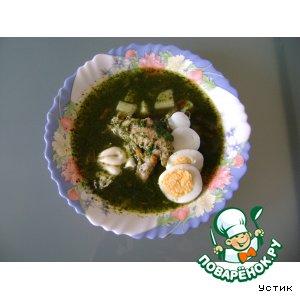 Рецепт: Легкие щи из шпината