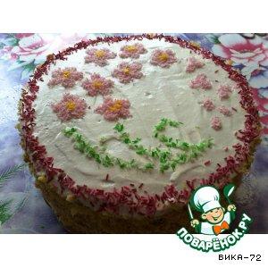 Рецепт: Торт Вишневый сад