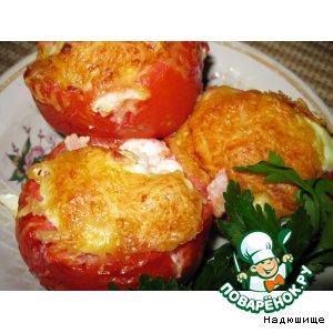 Рецепт: Яичница в помидорах