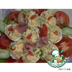 Рецепт: Фаршированные яйца Казино